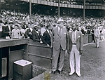 [Spectators at Baseball Game with Bill Robinson at Right]