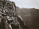 Yosemite Cliff, At Summit of Falls