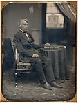 [Seated Man with Brattle Street Church Seen Through Window]