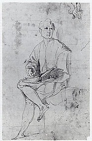 A Seated Man Declaiming from a Book