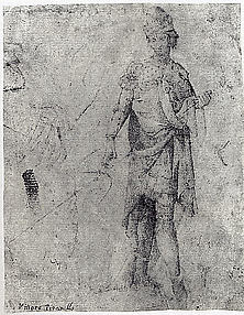 A Young Man in Armor, Facing Front