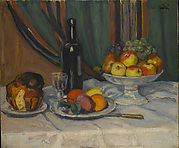 Still Life with Fruit and Brioche