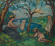 Woman Painting in the Open Air