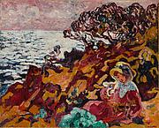 Woman on the Seashore (Jeune Femme sur les rochers à Anthéor)