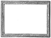 Caneletto-style frame