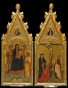 Madonna and Child Enthroned with Two Angels and Saints James the Great and John the Baptist and the Annunciatory Angel
