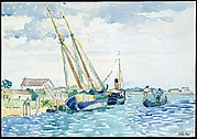 Marine Scene (Boats near Venice)