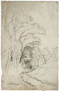 Country Road Landscape with Trees (recto); Landscape with Trees (verso)