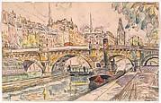 Tugboat at the Pont Neuf, Paris