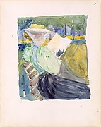 4r. A woman reading in the park; 4v. Blank