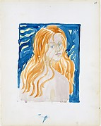 Large Boston Public Garden Sketchbook: A  nude woman with red hair