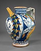 Maiolica: Apothecary jug (brocca)
