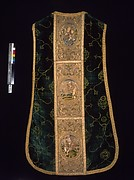 Chasuble with Orphreys depicting a saint and bishop saint (front), the Virgin and Child, Saint Martin, and Saint Peter (back)