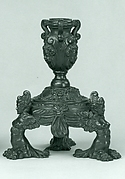 Candlestick supported by three female demi-figures (pair with .1378)