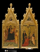 Diptych with tabernacle frames