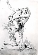 Hercules and Antaeus (with a Base Below)