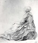 Seated Woman in Profile