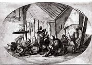 Peasants Carousing in a Barn