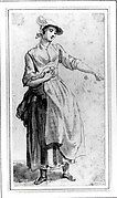 A Young Woman, Full Length, with Her Left Arm Outstretched