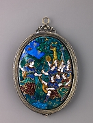 Mirror; Minerva Visits the Muses on Mount Helicon