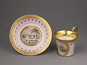 Cup and saucer with views of Pulawy, a Palladian country house