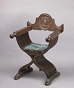 Folding armchair (sedia a Savonarola type)