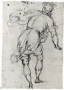 Male Figure Seen from Behind