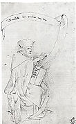 Seated Man with a Book and a Scroll