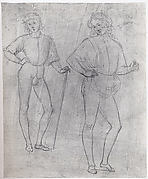Two Studies of a Standing Youth in Quattrocento Clothing (recto); a cardinal's hat on a fragmentary coat of arms with a griffin (the arms of the city of Perugia) (verso)
