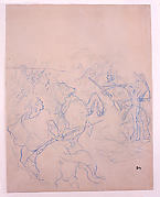 Sketch of Two Groups Fighting