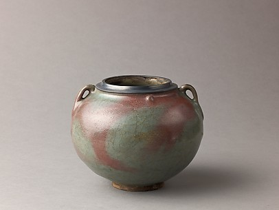 Two-eared jar, Jun ware