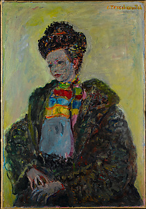 Young Woman Dressed in Fur