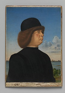 Portrait of Alvise Contarini(?); (verso) A Tethered Roebuck