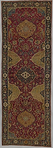 Indo-Persian carpet with medallions