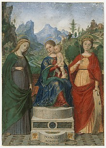 Virgin and Child Enthroned between Saints Cecilia and Catherine of Alexandria