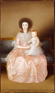 Condesa de Altamira and Her Daughter, Mara Agustina