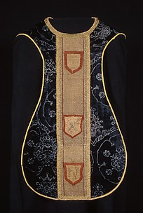 Chasuble with an Orphrey Band and Cross