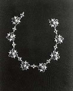 Necklance Formed of Eight Dress Ornaments with Eight Links