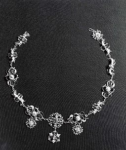 Necklace with Floral Decoration