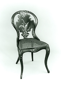 Papier-mâché side chair
