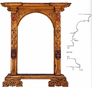 Part of a tabernacle frame