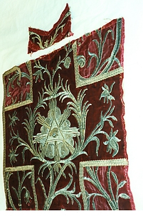 A: Fragments of a chasuble