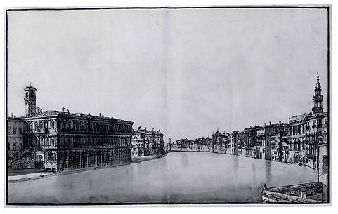 The Grand Canal, with the Fabbriche Nuove on the Left and Campanile of Santi Apostoli on the Right