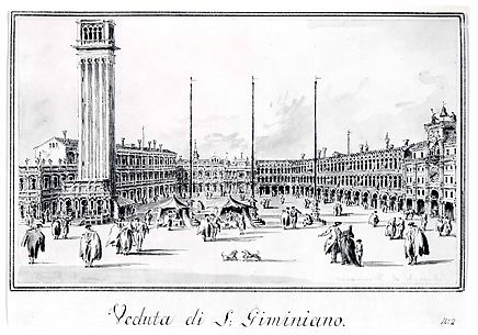Piazza San Marco, Looking toward the Church of San Gemignano