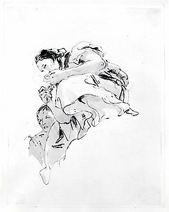 Crouching Woman with a Boy Behind Her