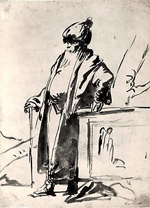 An Old Man in Oriental Dress, Standing by a Pagan Altar