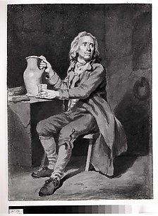 Seated Man with a Pitcher and a Glass