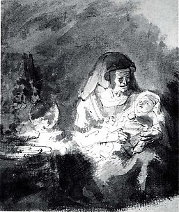 Old Woman with a Baby in her Arms
