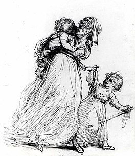 Study of a Woman and Two Children