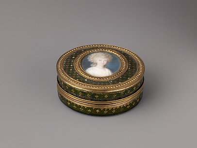 Snuffbox with Portrait of Unidentified Woman